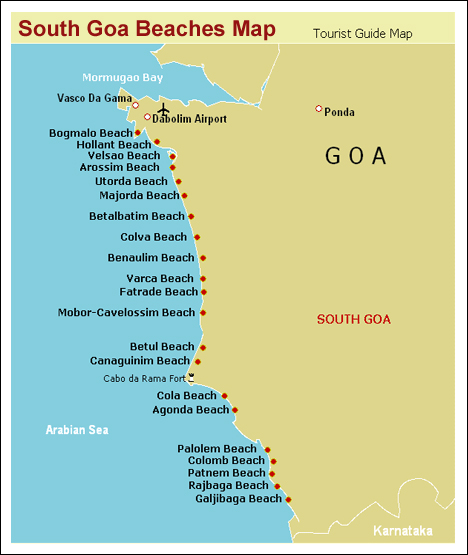 south-goa-beaches-map